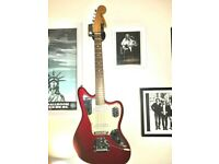 Fender jaguar electric guitar red
