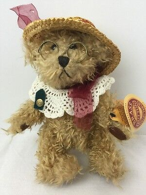 "Plush Pickford Bears 1997 Brass Button ""Rosie"" Bear of Joy Legs Jointed,"