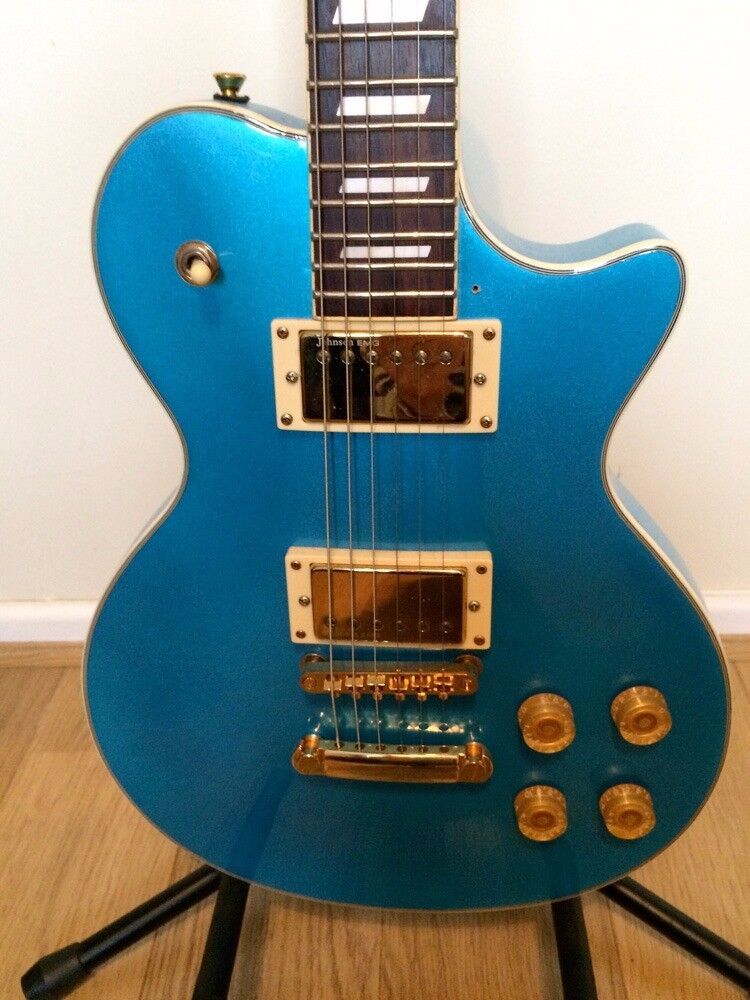 JOHNSON ELECTRIC GUITAR WITH ALL THE EXTRAS