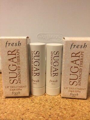 Fresh Sugar Advanced Therapy Lip  Treatment Mini Size 2.2g Each (lot Of 2) NIB