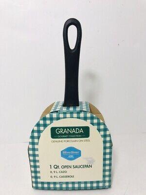 Granada Gourmet Collection 1 Qt Open Saucepan Cream Porcelain On Steel NEW Non Stick Porcelain Sauce Pan