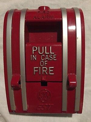 Vintage Fire Alarm Pull Box Ge Est Red