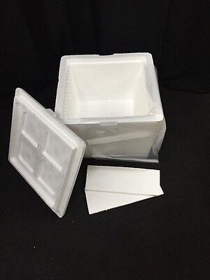 Insulated Styrofoam Medical Transport Shipping Cooler 17.5x16.5x14