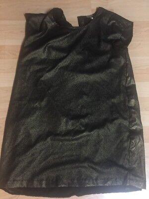 Bobi Metallic black and gold party dress Tunic size M Costume Cosplay 2C