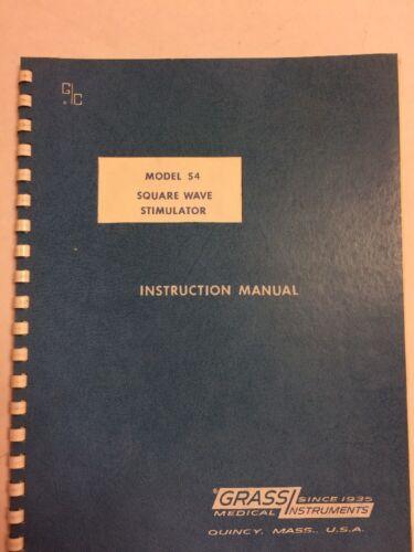 Grass Instruments Model S4 Square Wave Simulator Instruction Manual1967 Original