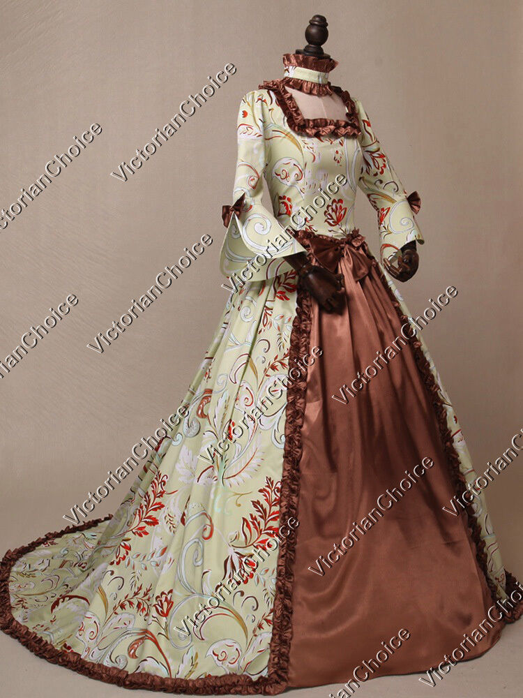 Colonial Game of Thrones Christmas Caroling Ball Gown Clothing 159
