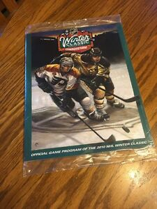 2010 Winter Classic Official NHL Hockey Program Bruins Vs Flyers Sealed !