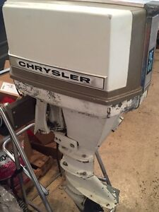 Chrysler 35 outboard with stand