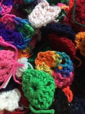 100 Crochet Granny Square CENTERS for Afghan Solid And Multi Colors