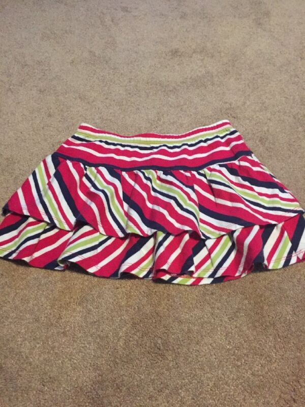 Crazy 8 Girls Striped Size L 10/12 Mini Skirt 100% Cotton