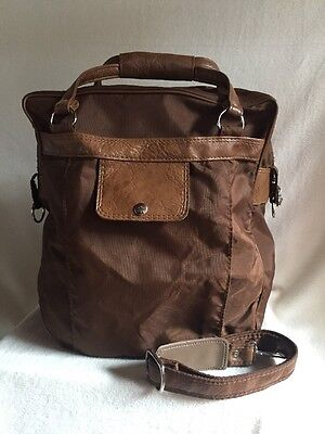 Samsonite Brown Carry On Tote Nylon Travel Weekend Bag Luggage