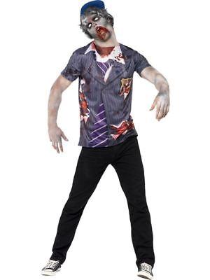 Zombie Schule Junge ,Brust 107cm-112cm, Halloween Zombie Gasse - Schule Jungen Halloween Kostüm