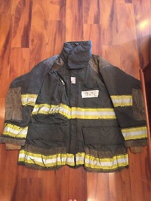 Firefighter Cairns Turnout Bunker Coat 48x32 Black Halloween Costume