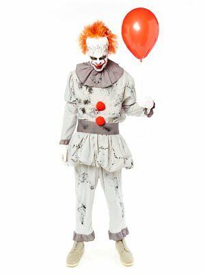 ★ Halloween Horror Deluxe Killer Clown Kostum 48-54 Clownkostum Herren