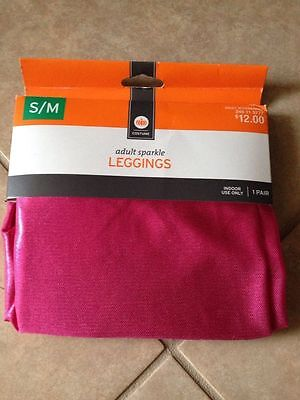 New ! ADULT Pink SPARKLE LEGGINGS HALLOWEN COSTUME SIZE S/M](Hallowen Costums)
