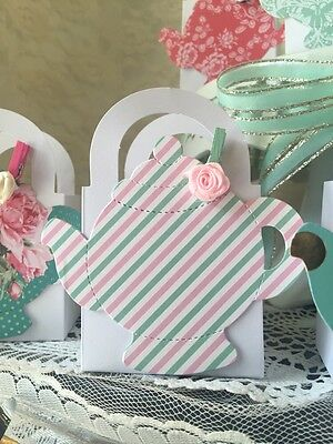 Shabby Chic Tea Party Thank You favor boxes for Party Or Baby Shower Cute!!!](Shabby Chic Party Supplies)
