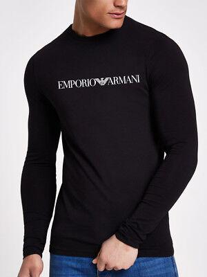 Armani T-shirts (Long Sleeve Slim Fit Emporio Armani Fashion Stretch Cotton T-shirt )