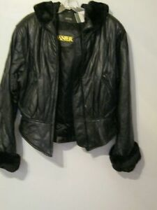 DANIER LEATHER NEW JACKET & NEW LEATHER VEST .. GREAT DEAL !!!!""