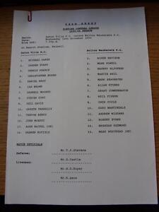16-11-1994-Aston-Villa-Reserves-v-Bolton-Wanderers-Reserves-At-Walsall-Single