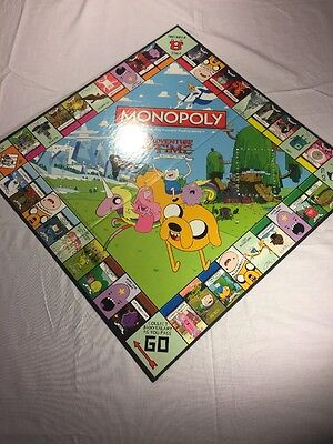 Adventure Time Collectors Monopoly Replacement Part Game Board 2013 Hasbro