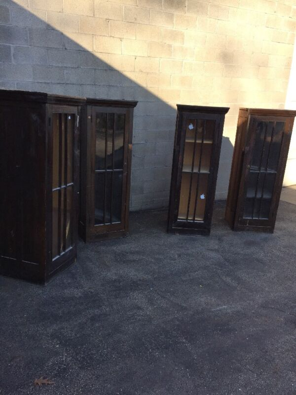 Cm 79 4 Available Price Separate Antique Birchwood Built In Bookcase 65.75 X22
