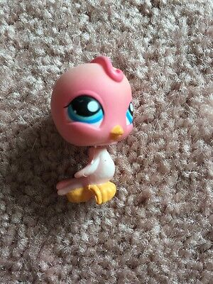 Littlest Pet Shop LPS Pink Lovebird #205 Blue Eyes Hasbro