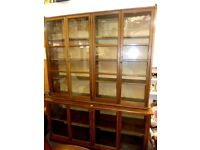 LARGE ORIGINAL 1920-30 VINTAGE ART DECO LARGE ORIGINAL OAK HABERDASHERS RETAIL SHOP CABINET V.G.C.