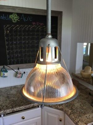 Vintage HOLOPHANE LOBAY 684 Industrial Warehouse Pendant Factory light STUNNING!