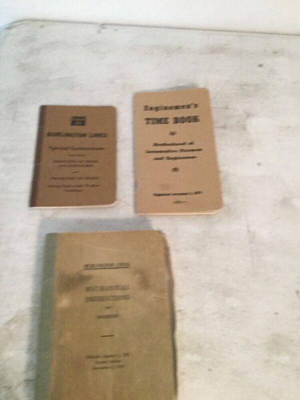 Burlington Lines Lot of 3 Manuals