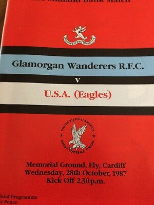 Glamorgan Wanderers V  USA Eagles 28/10/87
