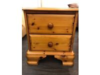 Solid pine bedside caninet
