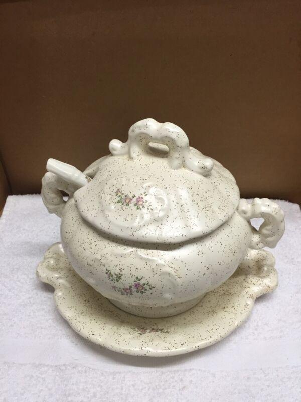 Vintage Ceramic Soup Serving Set