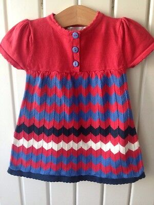 Baby Girl's Clothes 3-6 Months - Stunning Funky Fine Knitted Short Sleeve Dress ()