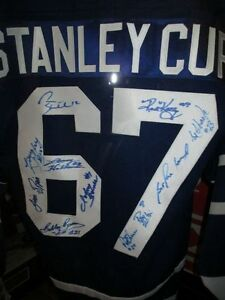 1967 Toronto Maple Leafs Stanley Cup Champs Signed Jersey