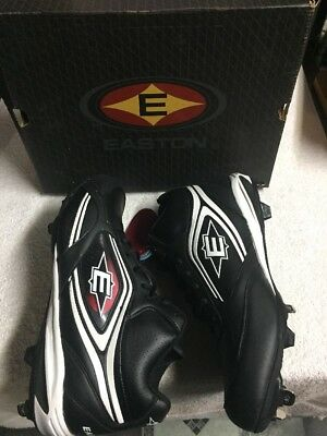 Easton Men's Black White Ankle Top Steel Cleat Athletic Shoes Size Sz 13 Medium , used for sale  Shipping to Canada