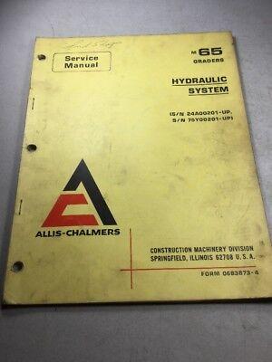 Allis Chalmers M65 Grader Hydraulic System Service Manual