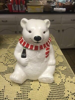 Coca  Cola Bear Cookie Jar