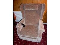 AS NEW ELECTRIC RISER/RECLINER CHAIR