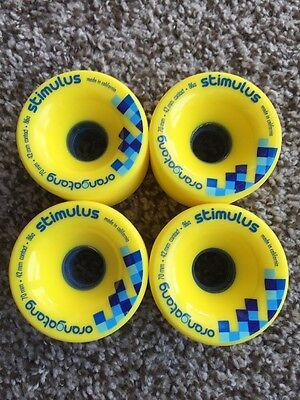 Orangatang Stimulus Longboard Wheels 70mm 86a Slide!!
