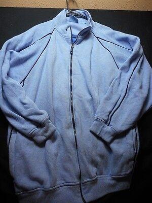 PJ Mark Blue Stripe Large Zipper Front Men's Sweatshirt Jacket  (Pj Jacket)