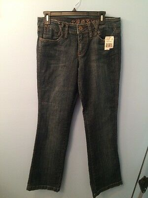 Dollhouse Blue Jeans & Rock & Roll You Are Beautiful Sz 11 Saddlewash NWT Dollhouse Womens Rock