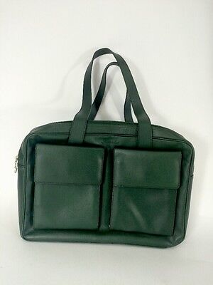 Bag Pineider Green Leather Zip Travel