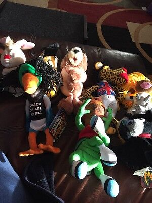 Lot Of 8  MEANIES Series 1  & 2 Plush Toys With Tags