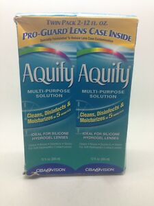 2 Aquify Multi Purpose Contact Lens Solution 12 Oz Each Ships From USA