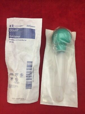 New Lot Of 5 Covidien Dover Bulb Syringe Wprotective Cap 60ml 67000