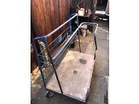 Large metal trolley
