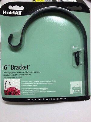 """Holdall 6"""" Inch Garden Bracket 135bl Plants Wind chimes Lanterns Bird Feeders"""