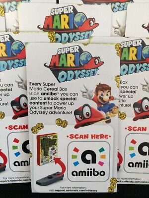 Super Mario Odyssey Cereal Nintendo Switch Amiibo Only   Fast Ship Today