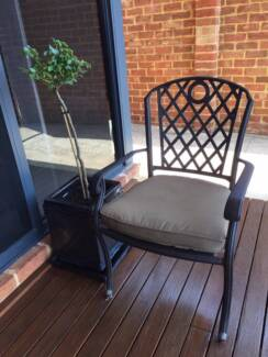 Outside Dining Chairs [6]  -  Whitehorse Cast Aluminium