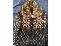 Hardly worn zara fur jacket, river island trench coat, addidas tracksuit